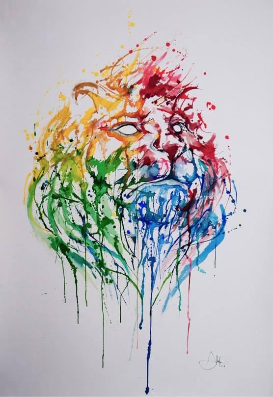 lion_peinture